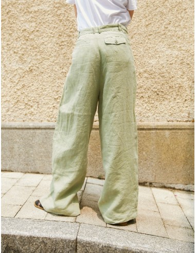 Large high-waisted linen Pants with...