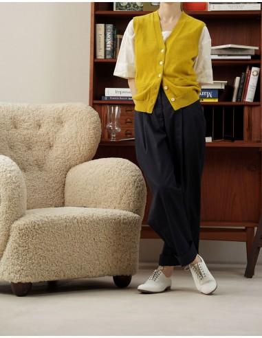 Knitted cashmere-blend vest